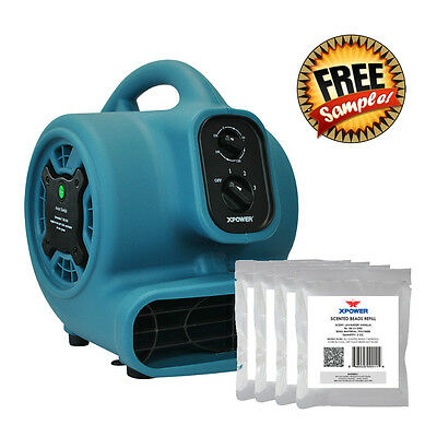 XPOWER P-250NT 1/5HP Scented Air Mover Fan w Ionizer, Timer + Free Scented Beads