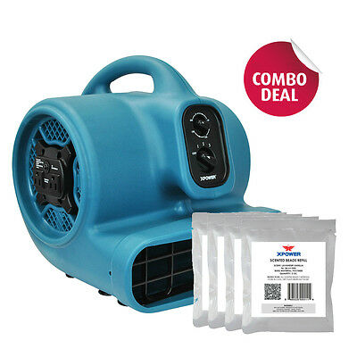 XPOWER P-450NT 1/5 HP Scented Air Mover Fan w Ionizer & Timer+ 5 Freshener Packs