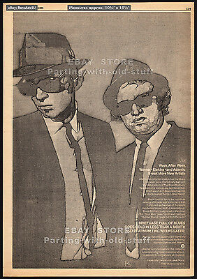 BLUES BROTHERS: Briefcase Full of Blues__Original 1979 Trade Print AD / poster