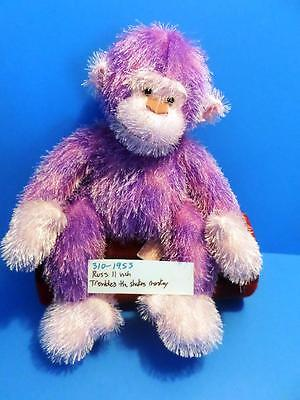 Russ Trembles the Shaking and Yelling Purple Monkey /Chimp plush(310-1955)