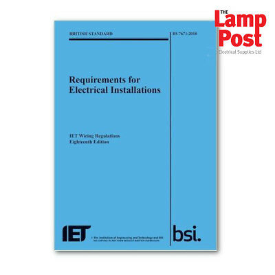 IET Electricians Wiring Regulations 18th Edition - Blue - NEW !!
