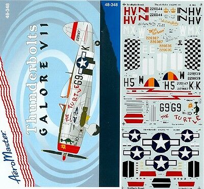 Aeromaster 48-348 - Decals 1/48 -Thunderbolts Galore Vii
