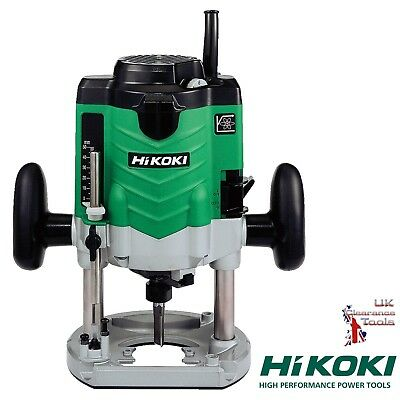 """Hitachi M12VE 240v Industrial Heavy Duty Router with 1/2"""" + 1/4"""" Collet + Case"""