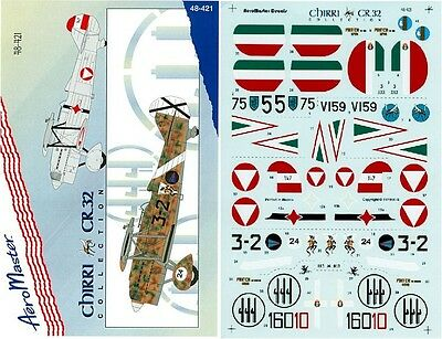 Aeromaster 48-421 - Decals 1/48 - Chirri Cr.32 Collection