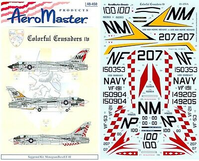 Aeromaster 48-450 - Decals 1/48 - Colorful Crusaders Iv