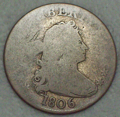 1806 Bust Quarter DOLLAR *SILVER* Authentic B-9 Nicely Circulated Original 25C