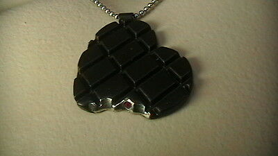 """Roberto Coin Sterling Chocolate """"bitten"""" Heart Necklace"""