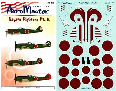 AEROMASTER 48-463 - DECALS 1/48 - HAYATE FIGHTERS Pt. II