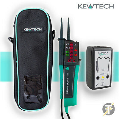 Kewtech KT1780 LED Voltage & Continuity Tester, KEWPROVE 3 Proving Unit & KEWC1