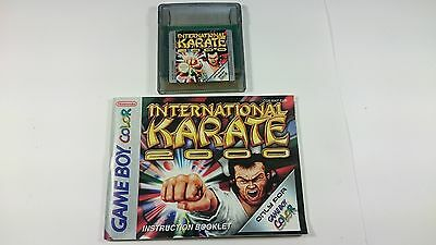 Juego Internacional Karate 2000 E Instrucciones Game Boy Gameboy Perfecto Estado
