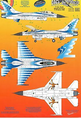 Daco Products Dcd4847 - Decals 1/48 F-16A Demo 1998 Belgian Air Force