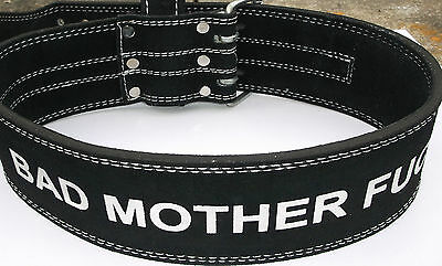 """LEATHER STRONGMAN/WEIGHT/POWERLIFTING BELT- 4"""" WIDE 30""""-40"""" 1 CM THICK bad mothe"""