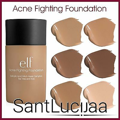 E.l.f Elf Acne Fighting Foundation - Oily Blemish Prone Skin Salicylic Acid 0.5%
