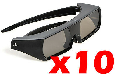Sony CECH-ZEG1UX Active 3D Glasses Rechargeable For PS3 PSTV 3D Movies Lot of 10
