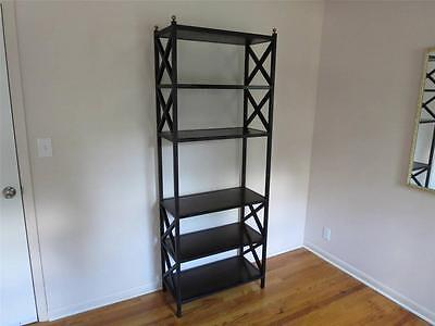 A Designer Hollywood Regency Iron Shelf / Etagere X-Form Vintage