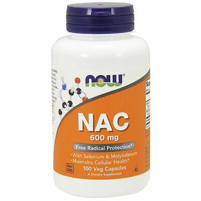 NAC Acetylcysteine for Excitotoxicity - 600mg x100Vcaps