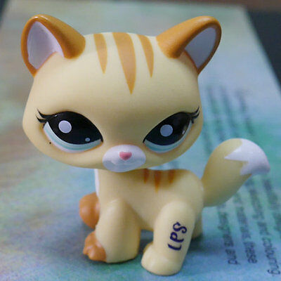 "LPS #2034 COLLECTION Action Figure YELLOW CAT KITTY TOY 3"" LITTLEST PET SHOP"