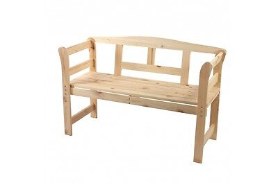 gartenbank bank garten gastronomie holzbank sitzbank mit lehne massiv holz natur eur 99 90. Black Bedroom Furniture Sets. Home Design Ideas
