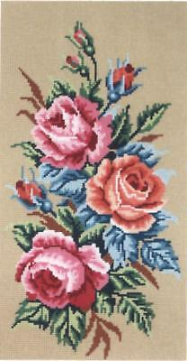 Gobelin L Printed Tapestry/Needlepoint Canvas - Roses