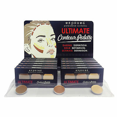 Exposed Ultimate Contour Palette - Bronzer, Highlighter &  Beauty Contouring Kit