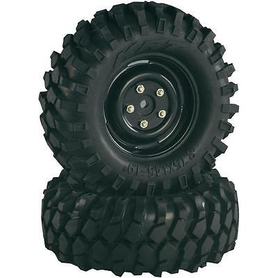 "Absima 1/10th Scale Crawler Steelhammer 1.9"" Wheels and tyres (2) 96mm 2500031"
