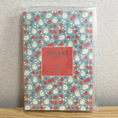 [Red Apple] 2016 Molang Planner Ver1 Undated Diary Journal Agenda Rabbit Kawaii