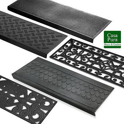 Rubber Outdoor Stair Treads Anti Non Slip Heavy Duty Step Covers Tread Mats