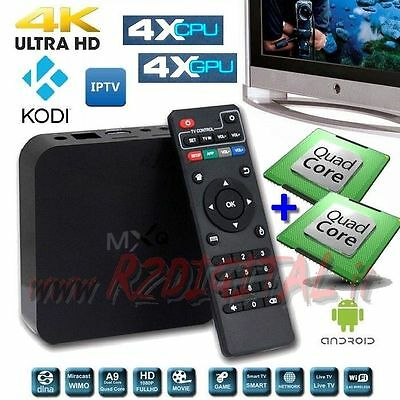 Android Tv Box Mx Uhd Media Player Octa Core 4K Full Hd Wifi Lan Funzione Smart