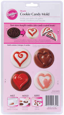 Cookie & Candy Mold Hearts 8 Cavity 2 Designs W1352