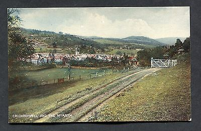 C1930's View of Crickhowell & the Myarth, Powys, Wales.