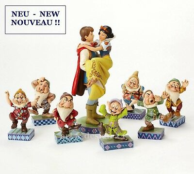 "ENESCO DISNEY ""BUNDLE - 7 DWARFS SNOW WHITE WITH PRINCE"" Jim Shore Figuren NEU!!"