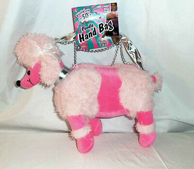 Pink Poodle Convertible Cell Phone Hand Bag Purse 1950s and 1960s Costume Style