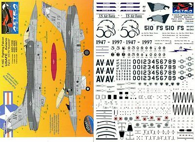 ASTRA DECALS ASD-4808 - DECALS 1/48 F-16C FIGHTING FALCON USAFE AVIANO Pt. 2