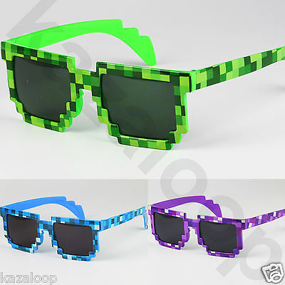 Pixel Mosaic CPU Bit Low Resolution Pixelated Sunglasses UV400