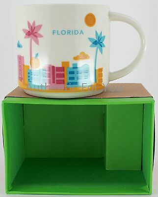 New Starbucks FLORIDA You Are Here YAH Collector Series 14oz Ceramic Mug in Box