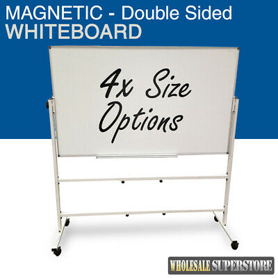 MOBILE WHITEBOARD Magnetic Double Sided Commercial Quality -  Board Office Erase