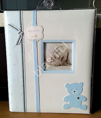 *NEW* Lil Peach Baby Boy Blue Bear Record Memory Keepsake Book 1st 5 Years