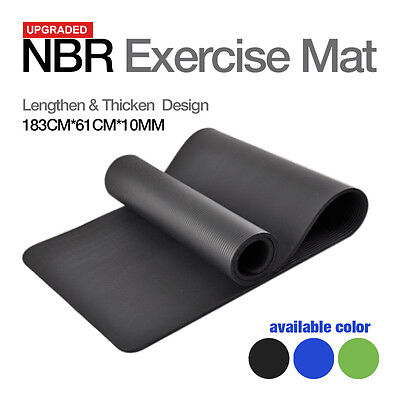 PILATES 10MM EXERCISE YOGA MAT HOME GYM 10MM THICK PHYSIO FITNESS MAT 3 Color