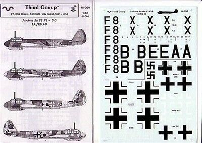 THIRD GROUP 48-050 - DECALS 1/48 JUNKERS Ju 88 #1 - C-6