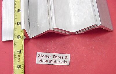 "4 Pieces 2""x 2""x 1/4"" ALUMINUM 6061 ANGLE BAR 6"" long T6 Extruded Mill Stock"