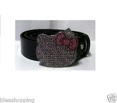 Cintura Disney Hello Kitty Cucciolo  con strass nera