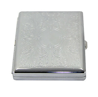 Victorian Style Classic Metallic Silver Color for King and 100s Cigarette Case