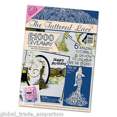 Tattered Lace Magazine Issue 26 Plus FREE GLAMOUR PUSS DIE & FREE 1st Class P&P