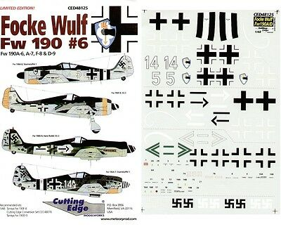 CUTTING EDGE MODELWORKS CED48125 - DECALS 1/48 FOCKE-WULF Fw 190A #6