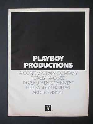 Rare 1974 PLAYBOY PRODUCTIONS Motion Picture Television Promo Magazine Print Ad