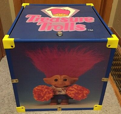 Treasure Trolls Chest Wood Storage Box by Ansco