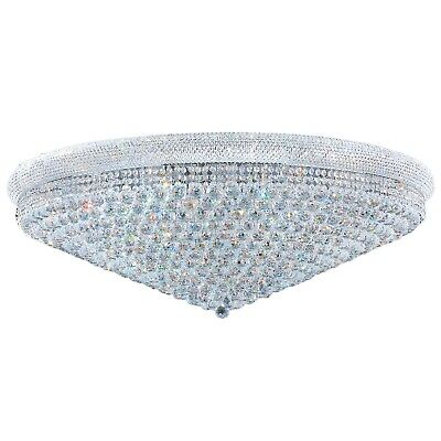 """SALE French Empire Crystal Flush Mount Ceiling 33 Light Extra Large 48"""" Round"""