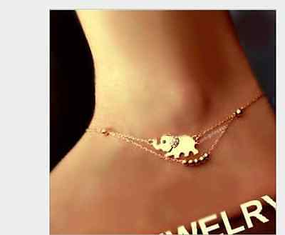 Women Elephant Crystal Anklet Ankle Bracelet Sandal Foot Chain Beach Jewelry Hot