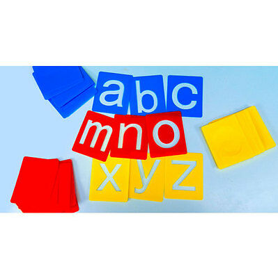 Alphabet Stencils Washable Small Lower Case 26 Individual Stencils