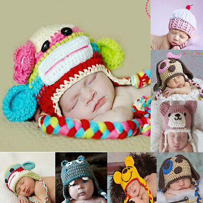 !!Clearance!! New Baby Boy Girl Crochet Beanie Hat 0000 -3 years Photo Props